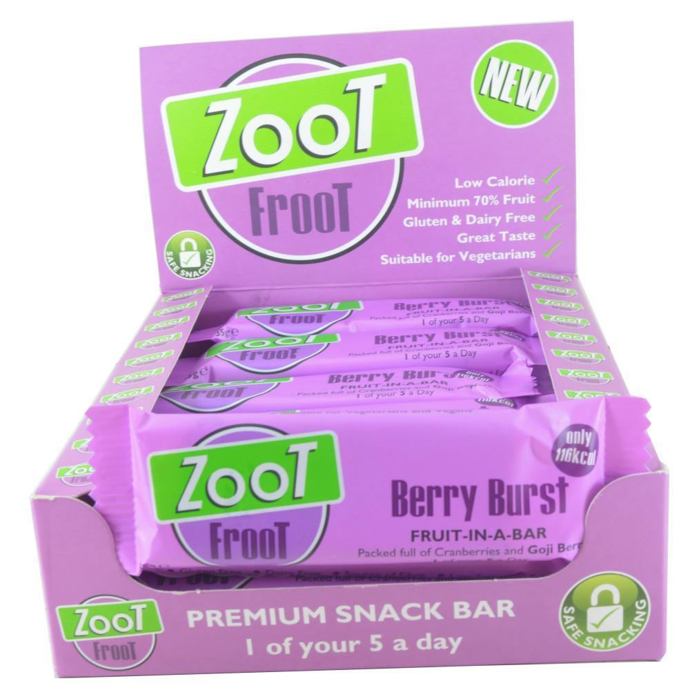 CASE PRICE  Zoot Froot Berry Burst Snack Bar 35g x 20