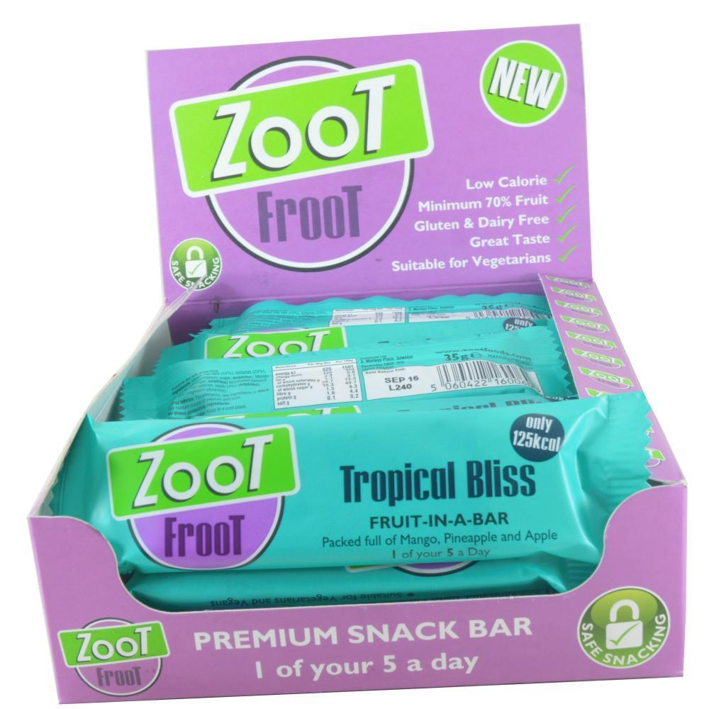 CASE PRICE  Zoot Froot Tropical Bliss 35g x 20
