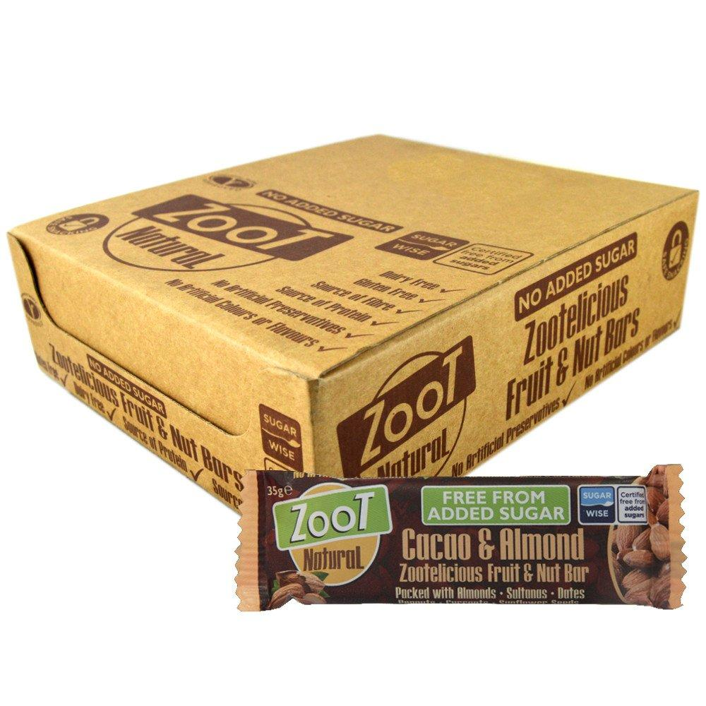 CASE PRICE  Zoot Natural Cacao and Orange Fruit and Nut Bar 35g x 20