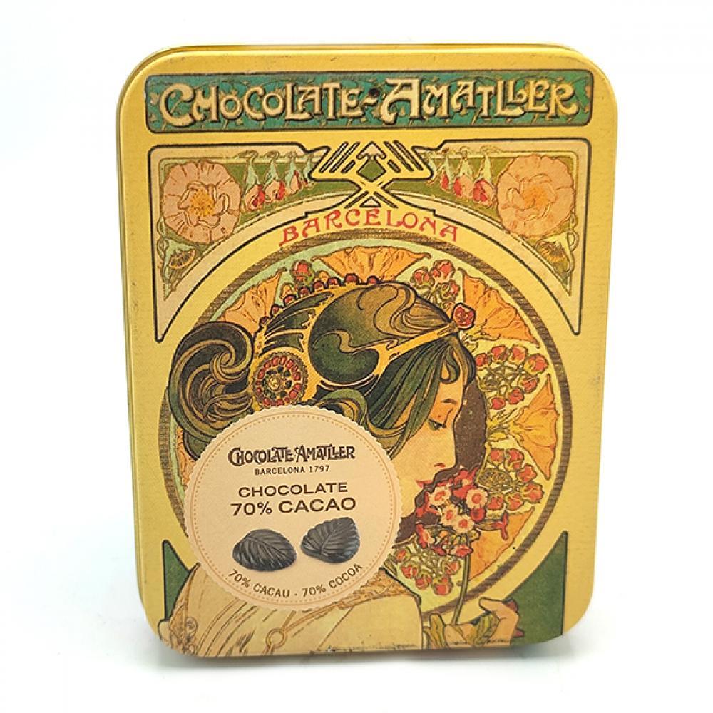 Chocolate Amatller Chocolate 70 Percent Cacao 60g