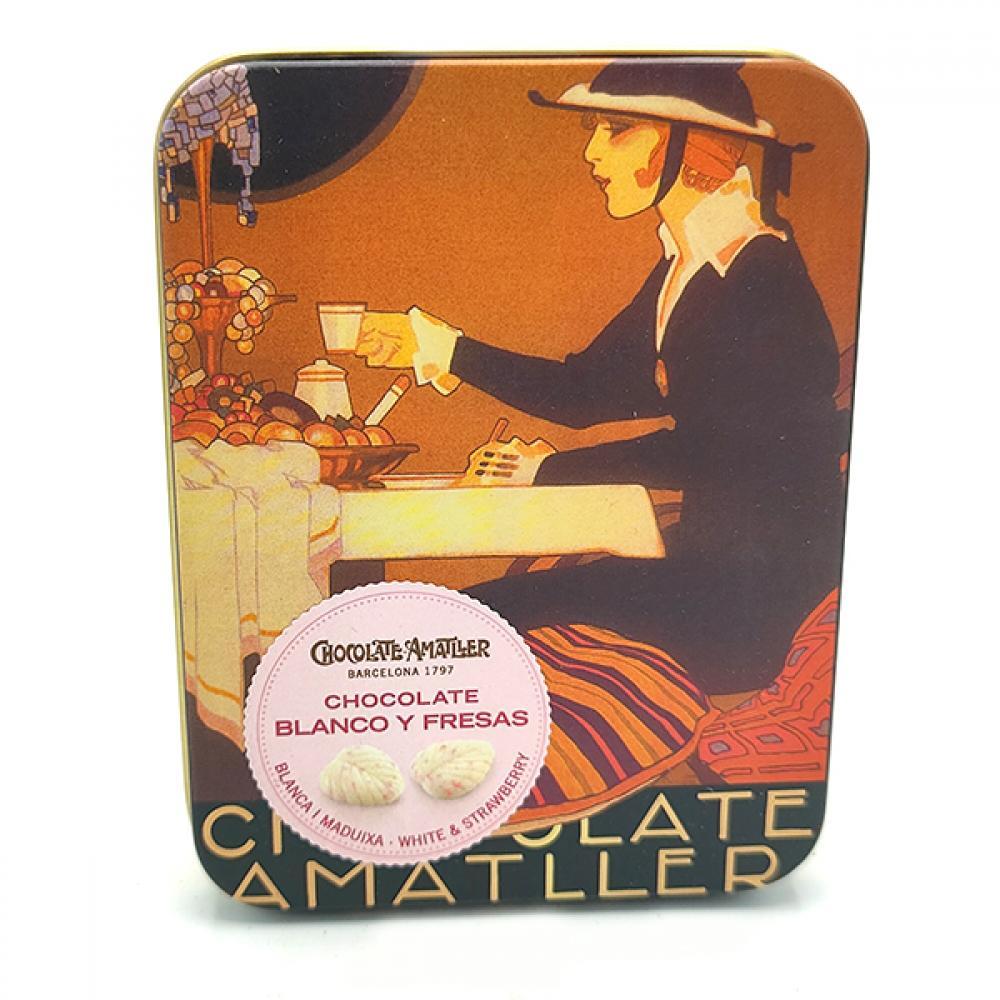 Chocolate Amatller White Chocolate With Strawberry 60g