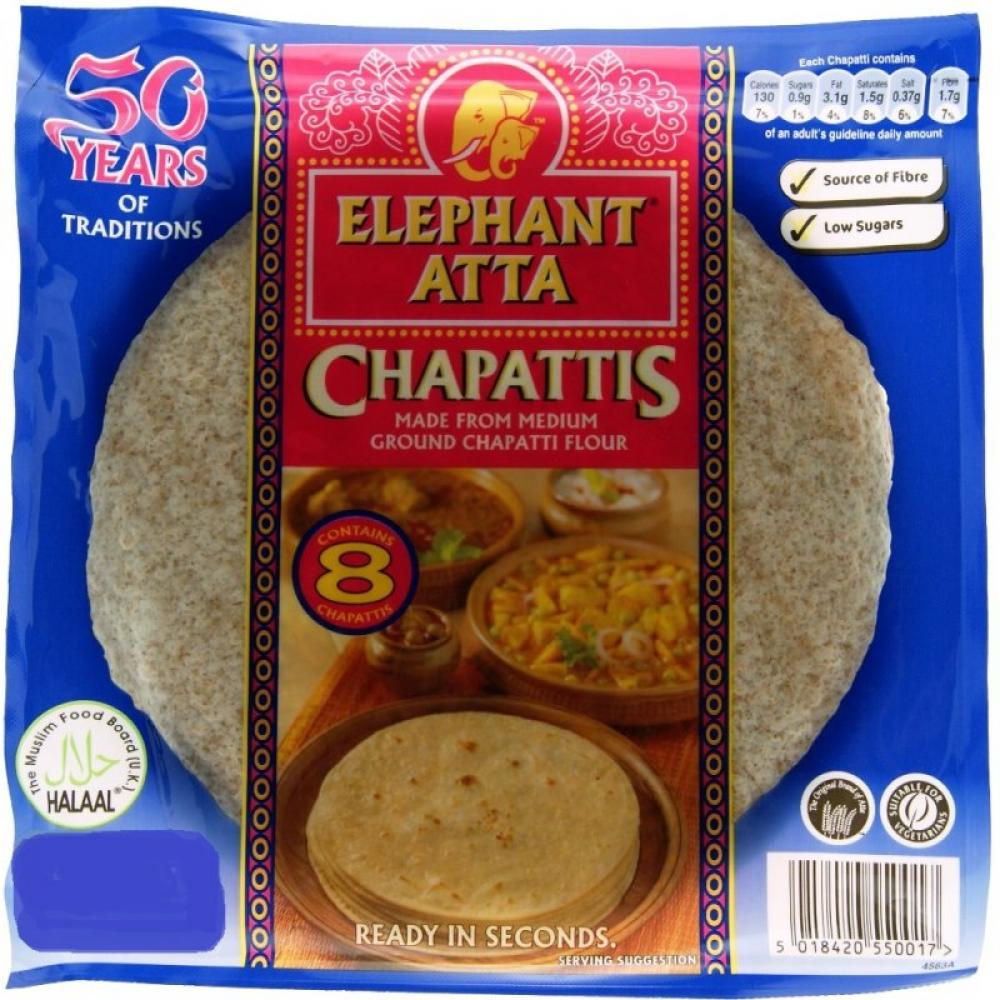 Elephant Atta Chapattis 8 Pack