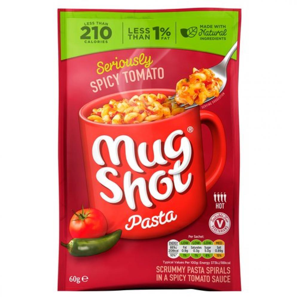 CLEARANCE  Mug Shot Spicy Tomato Pasta 60g