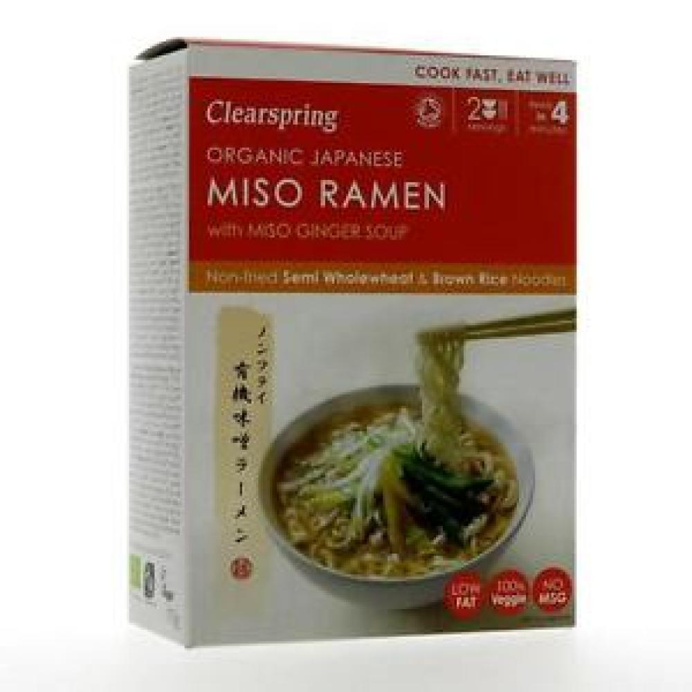 Clearspring Miso Ramen Noodles Miso Ginger Soup 170g