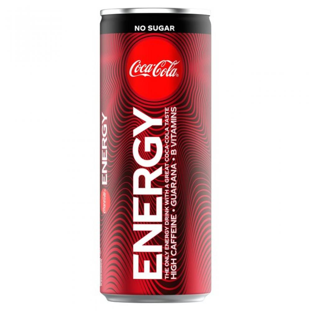 Coca Cola No Sugar Energy 250ml