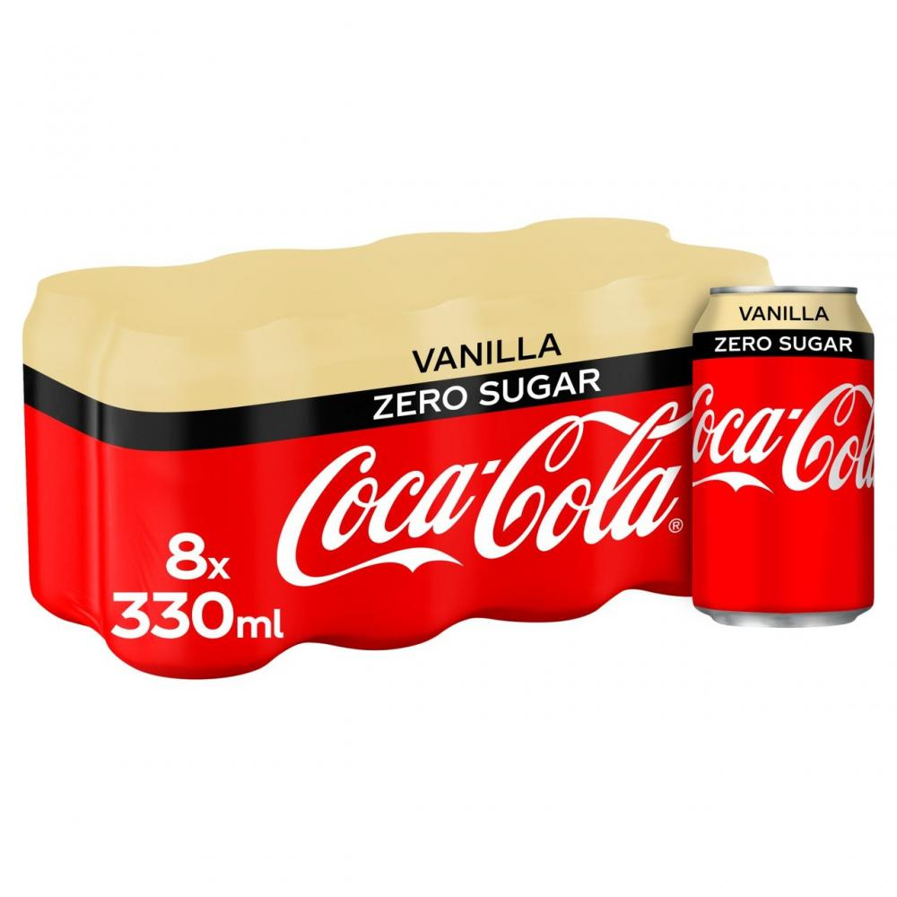 Coca Cola Zero Vanilla 8 x 330ml
