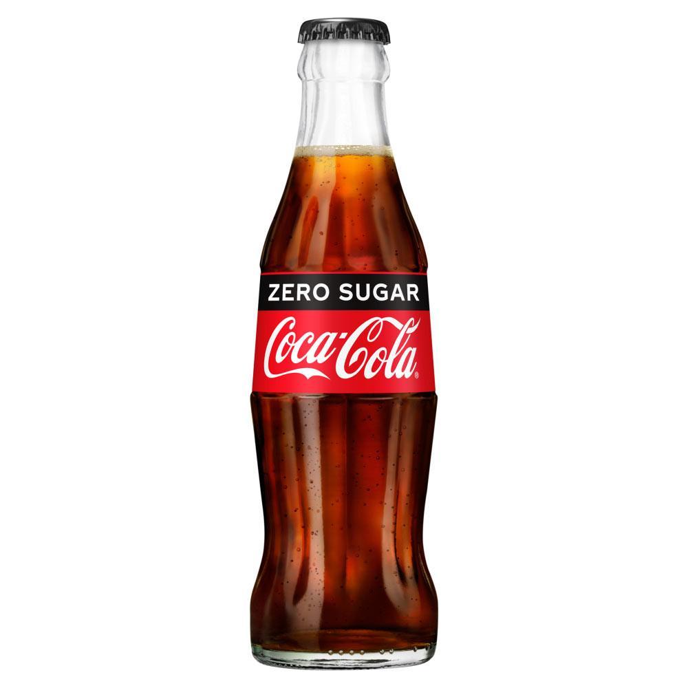Coca Cola Zero Glass Bottle 200ml