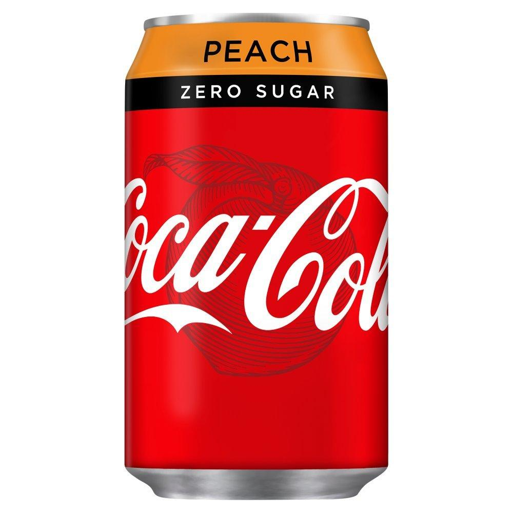 Coca Cola Zero Peach 330ml