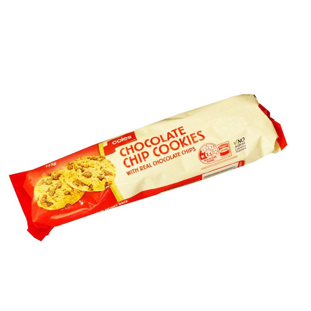 Coles Chocolate Chip Cookies 145g