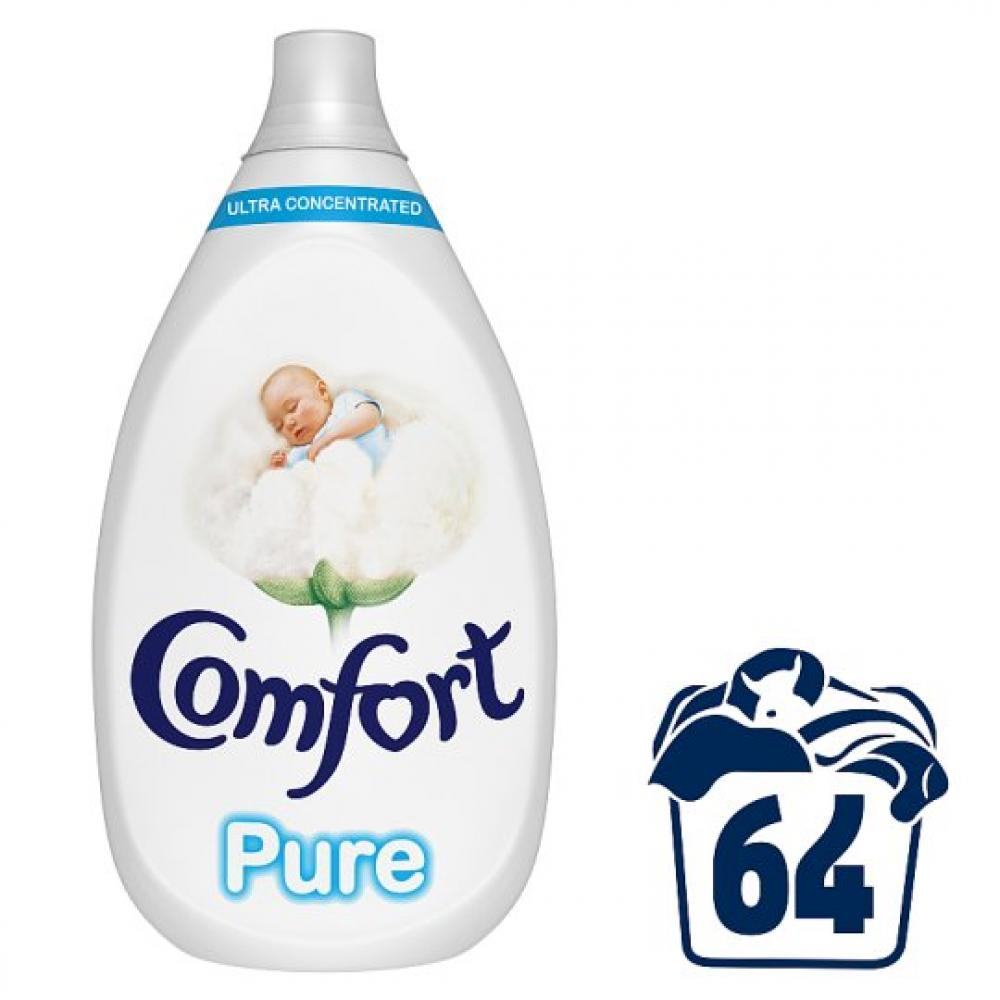 Comfort Pure Concentrate Fabric Conditioner 960ml 64 washes