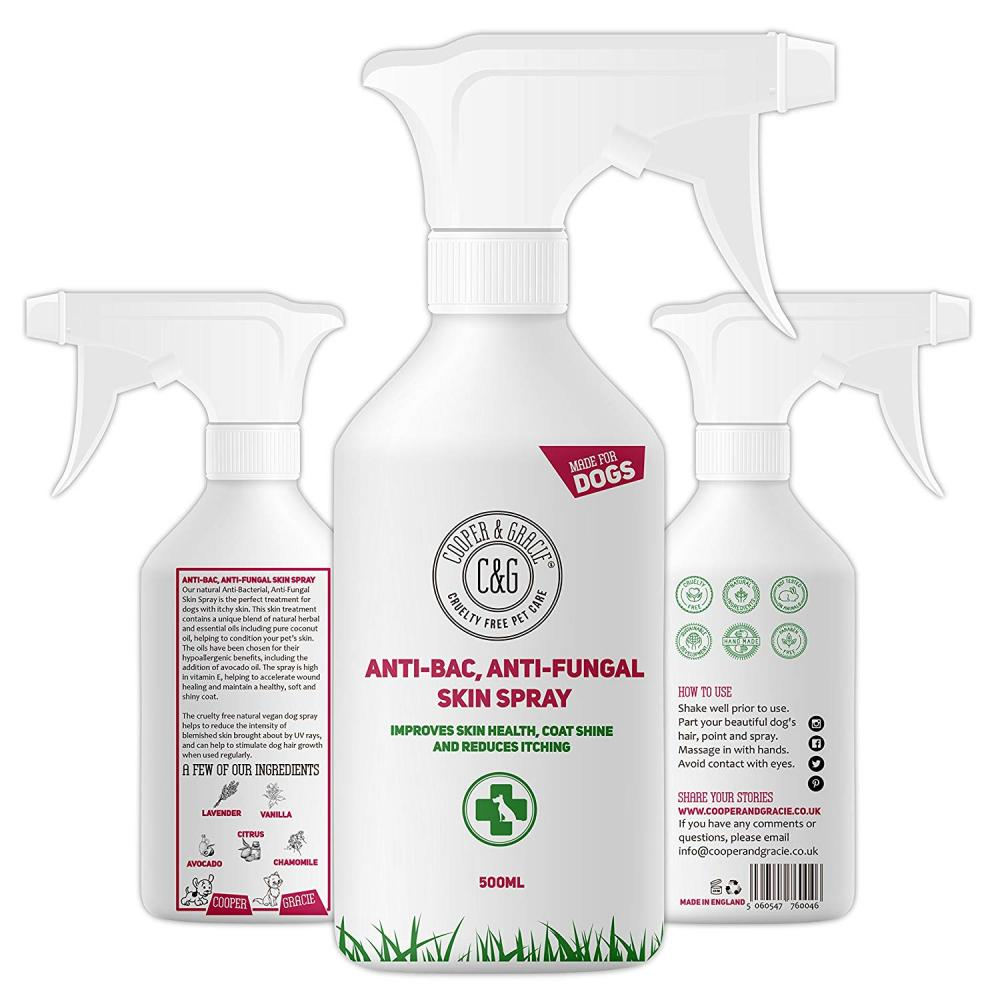 Cooper and Gracie Pet Care Antibacterial Anti Fungal Dog Spray 500 ml