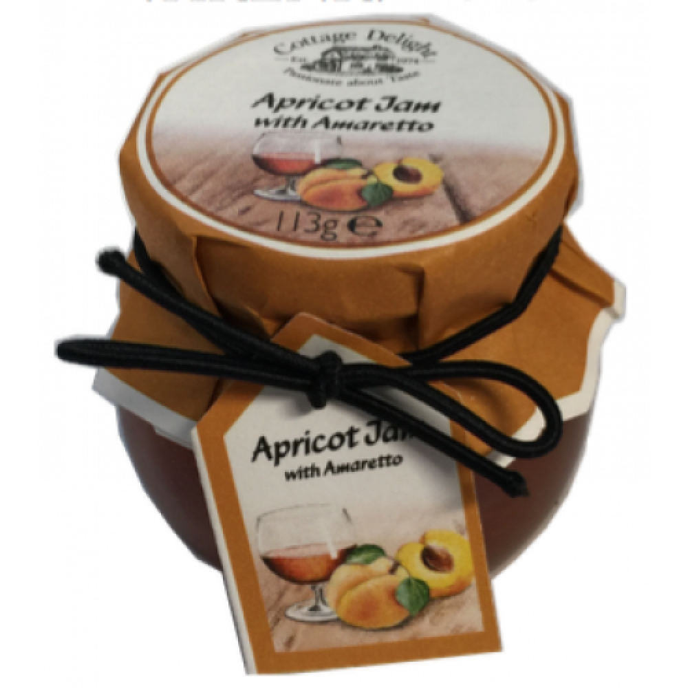 Cottage Delight Apricot Jam with Amaretto 113g