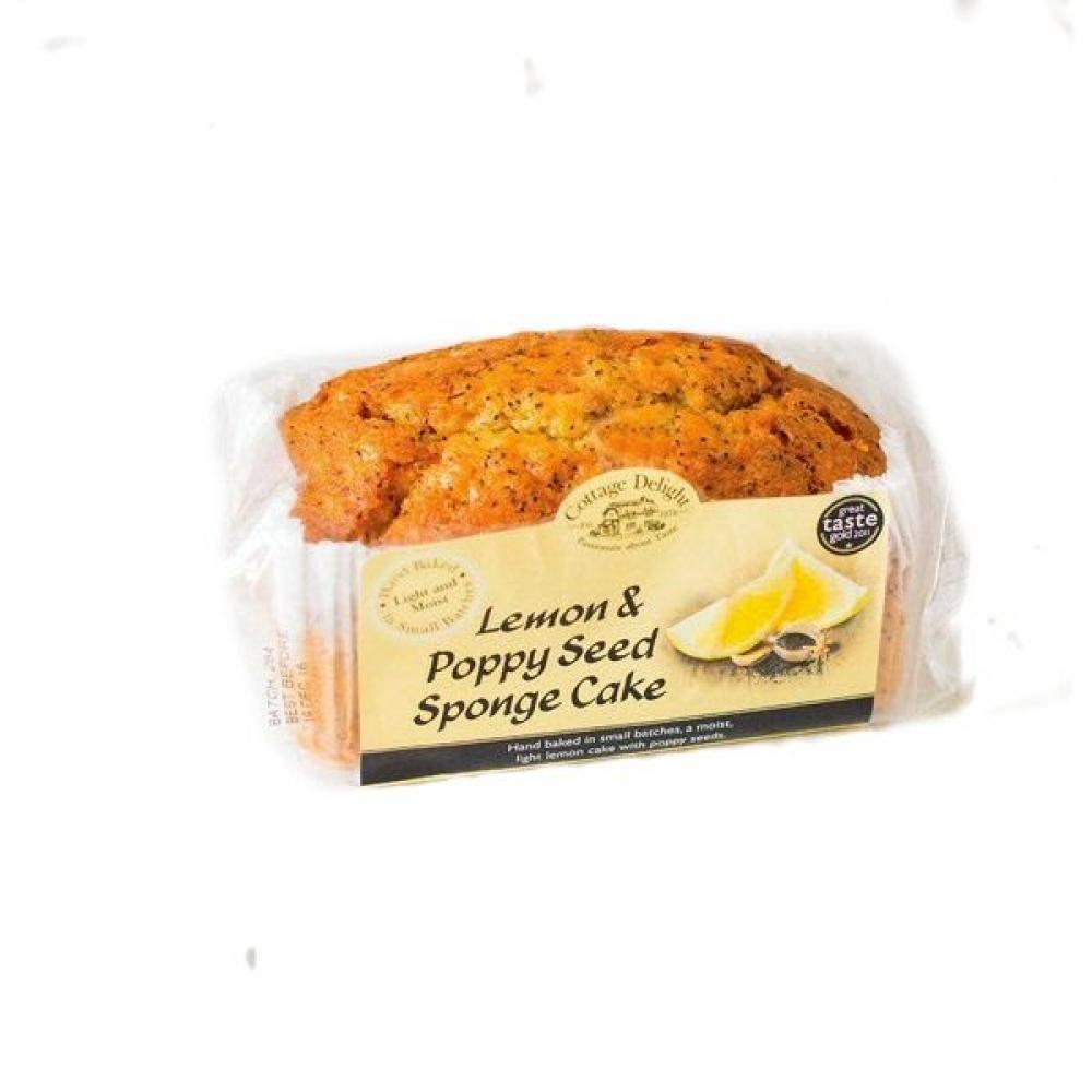 Cottage Delight Lemon and Poppy Seed Sponge Cake