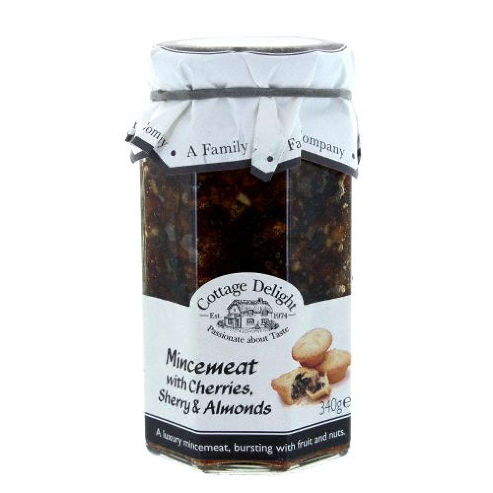 Cottage Delight Mincemeat with Cherries Sherry and Almonds 340g