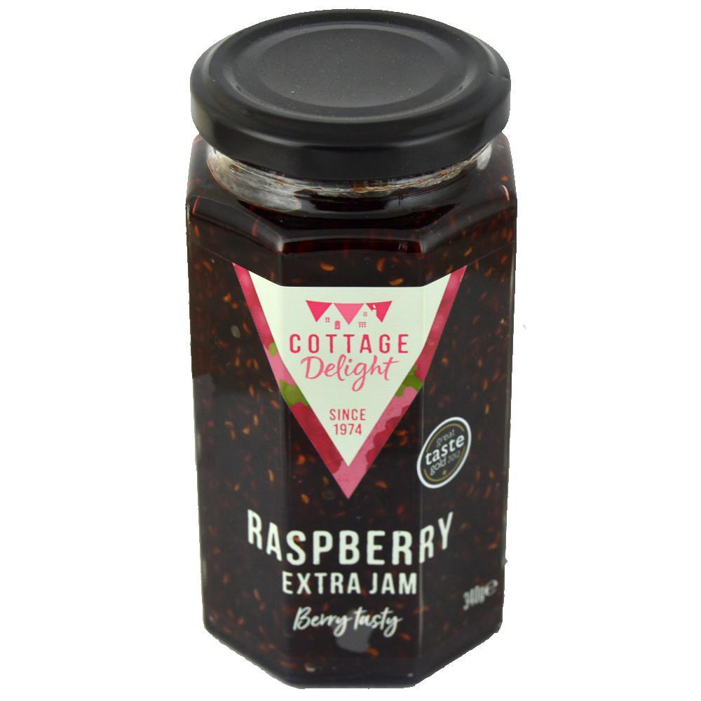 SALE  Cottage Delight Raspberry Extra Jam 340g