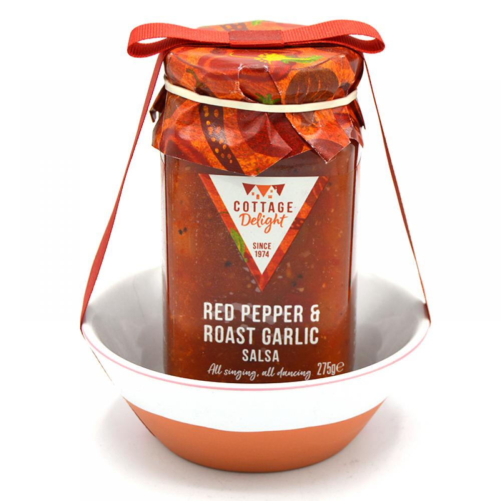 Cottage Delight Red Pepper and Roast Garlic Salsa Serve and Share