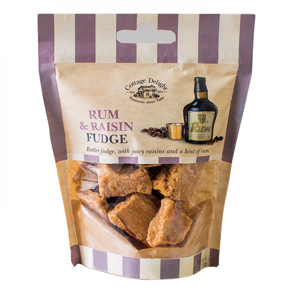 Cottage Delight Rum and Raisin Fudge 100g