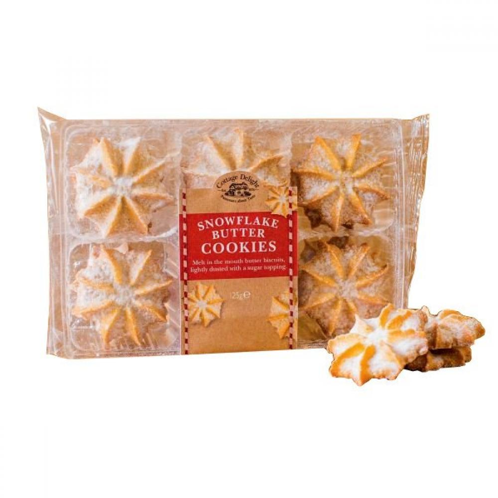 Cottage Delight Snowflake Butter Cookies 100g