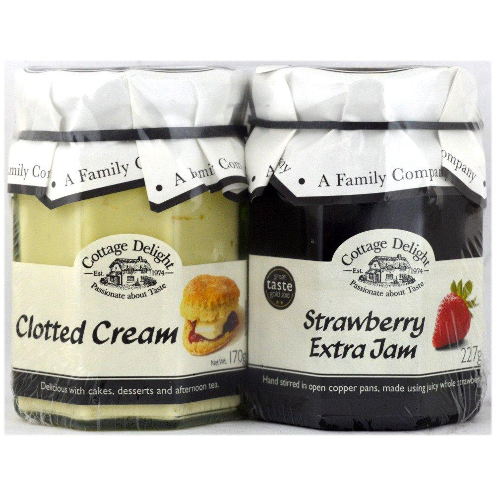 Cottage Delight Strawberry Jam and Clotted Cream 227g and 170g