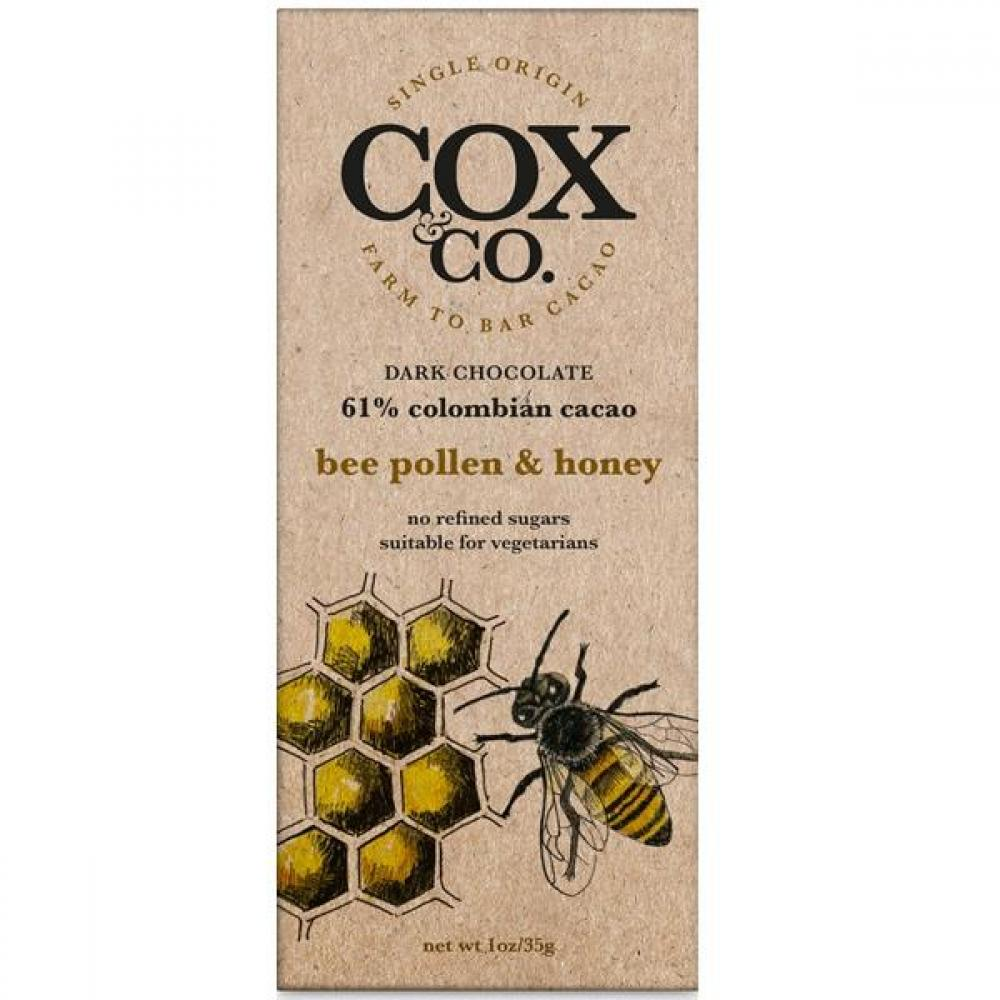 Cox and Co Bee Pollen and Honey Dark Chocolate 35g