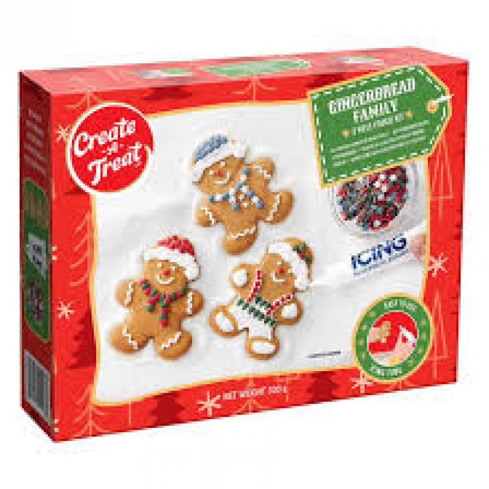 Create a Treat Gingerbread Family 8 Piece Cookie Kit 330g