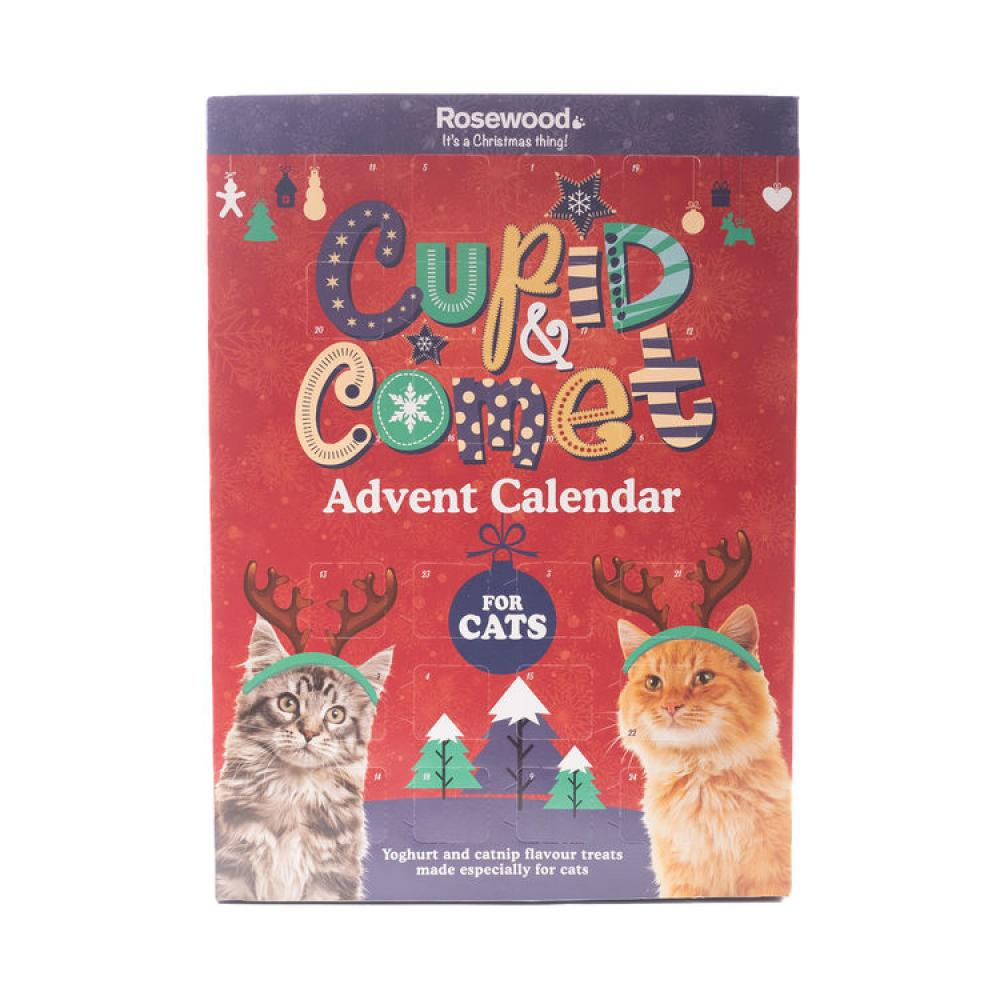Cupid And Comet Christmas Advent Treat Calendar for Cats 70g