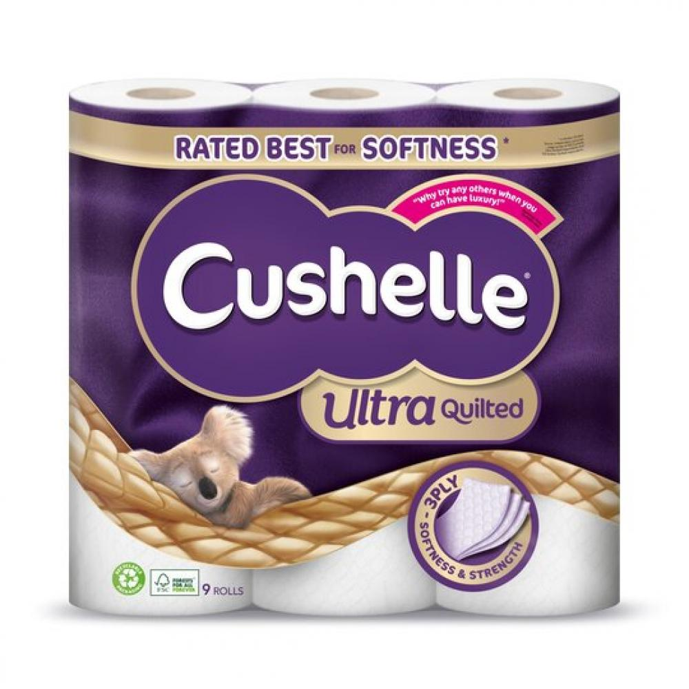 Cushelle Ultra Quilted Toilet Roll 9 Pack