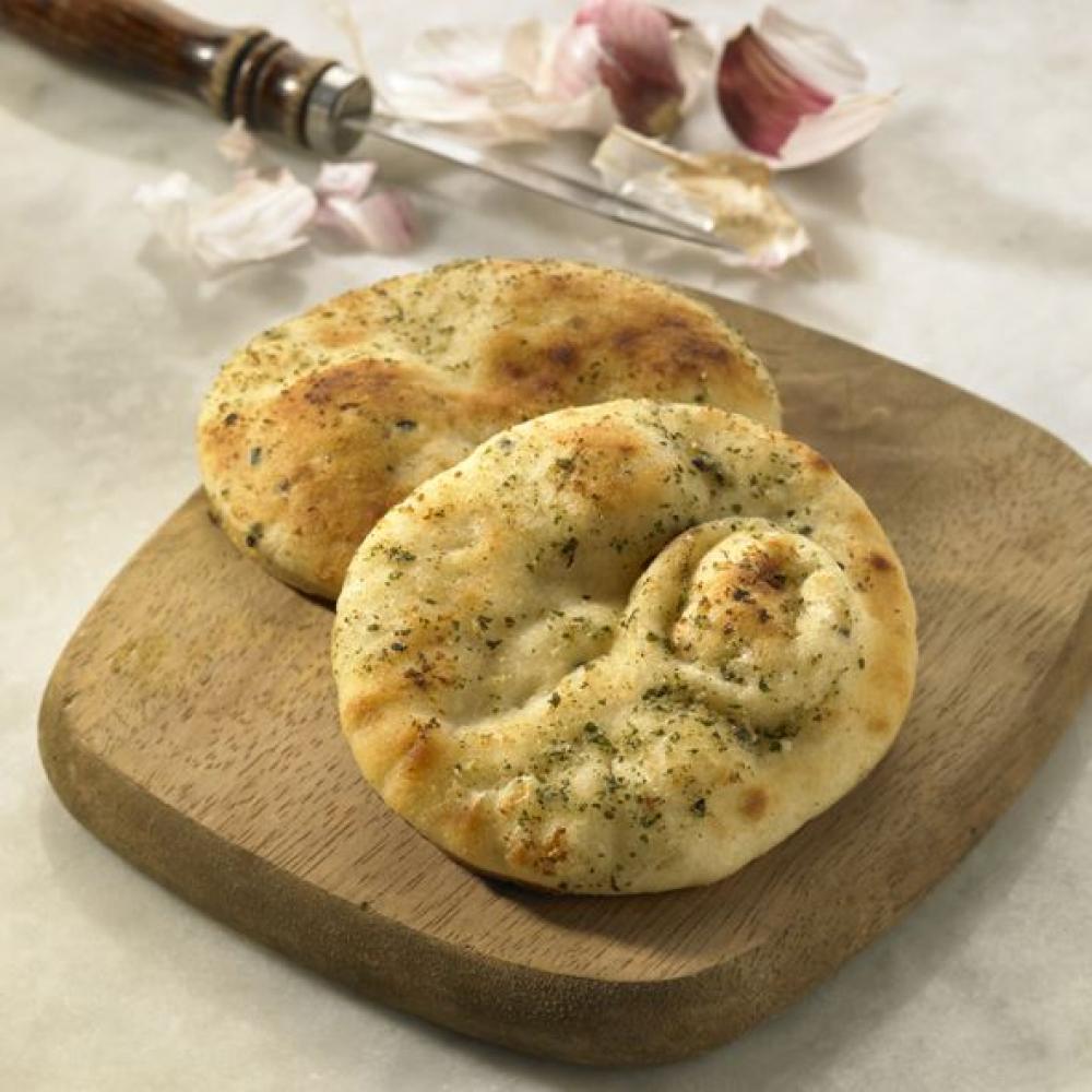 De Identified 4 Garlic and Coriander Mini Naans 220g