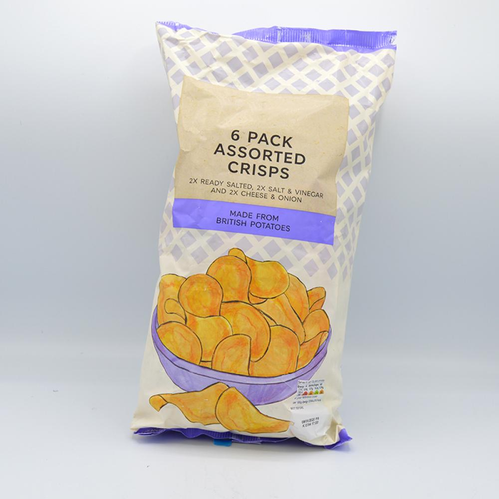 De Identified 6 Pack Assorted Crisps 150g (6x25g)