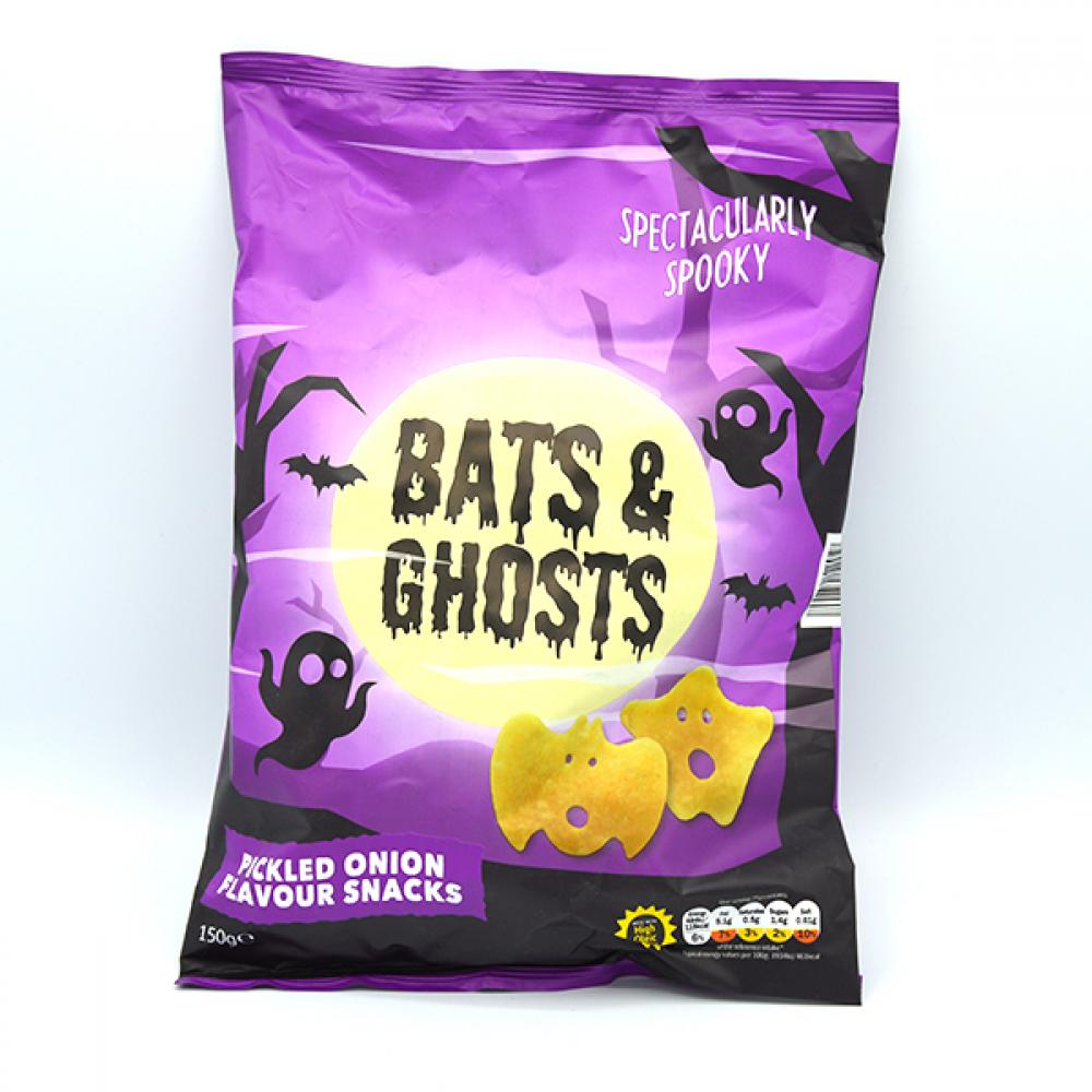 De Identified Bats and Ghosts Pickled Onion Flavour Snacks 150g
