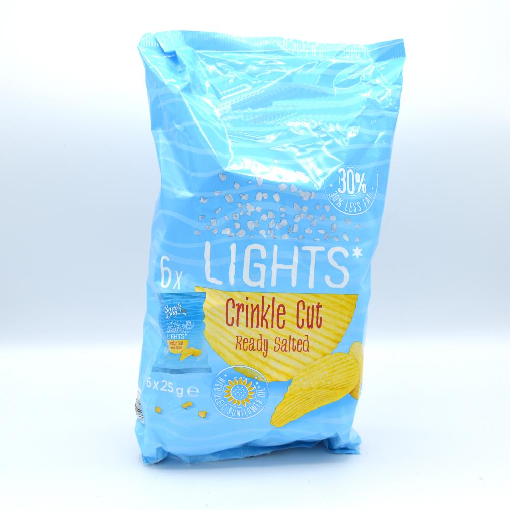 De Identified Crinkle Cut Ready Salted Crisps 6 x 25g