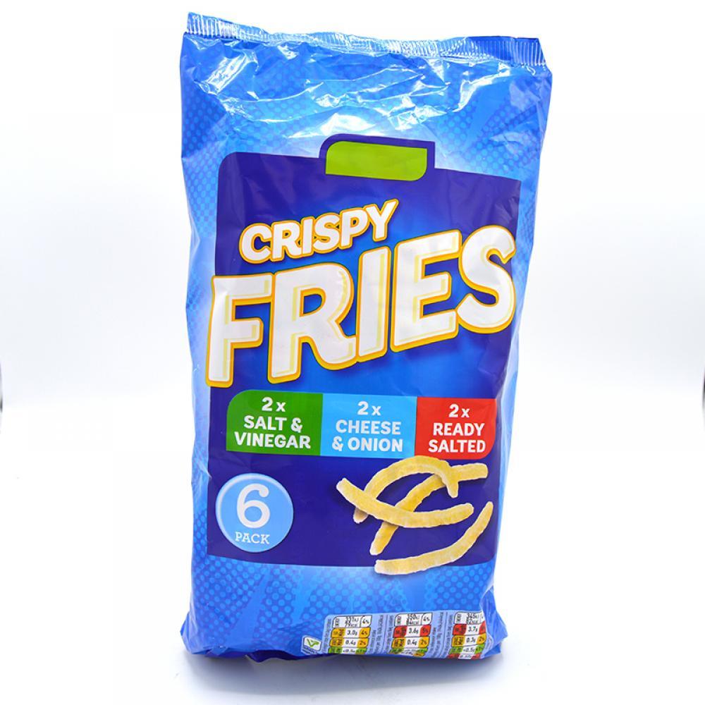 De Identified Crispy Fries 6 x 18g