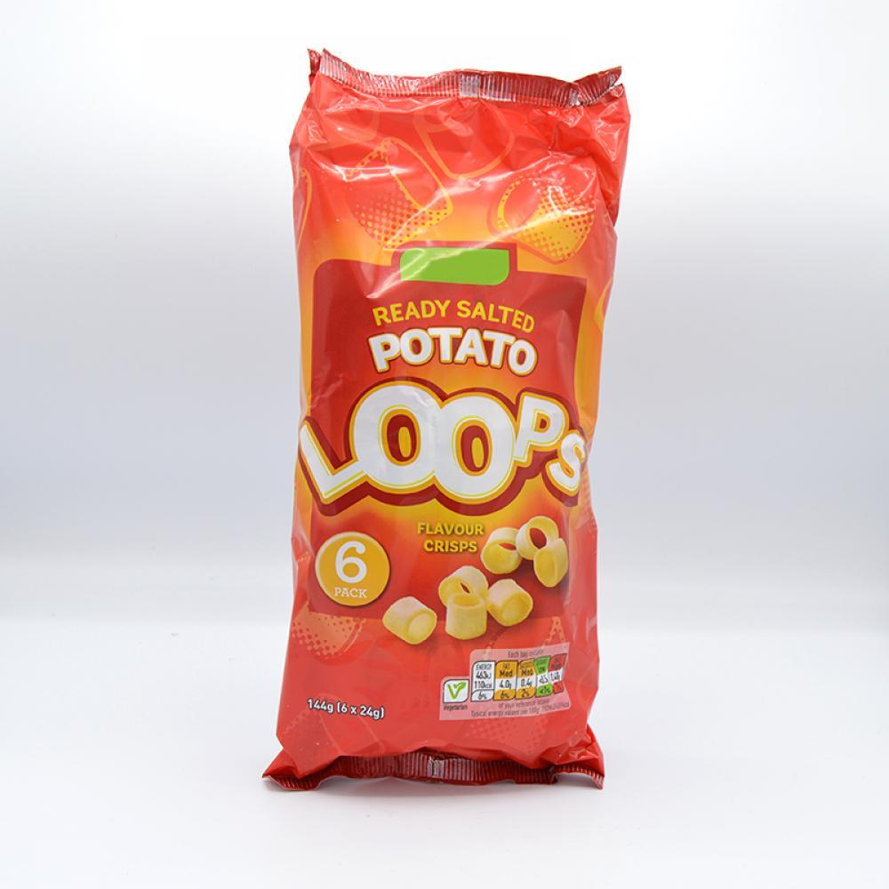 De Identified Ready Salted Potato Loops 144g