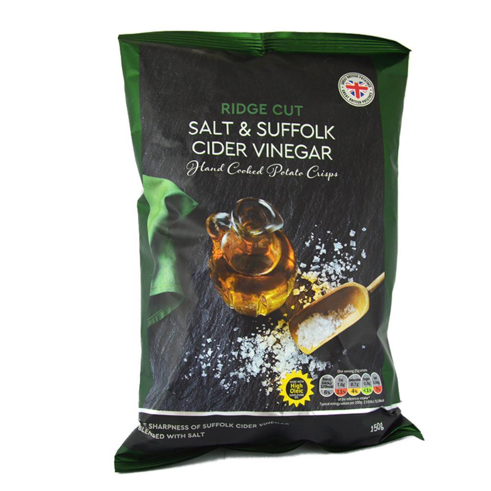 De Identified Ridge Cut Salt and Suffolk Cider Vinegar Crisps 150g