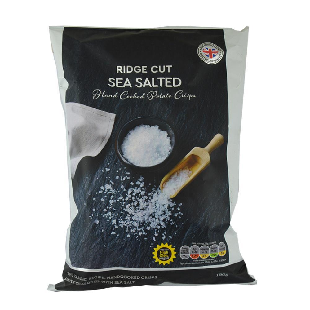 De Identified Ridge Cut Sea Salted Crisps 150g
