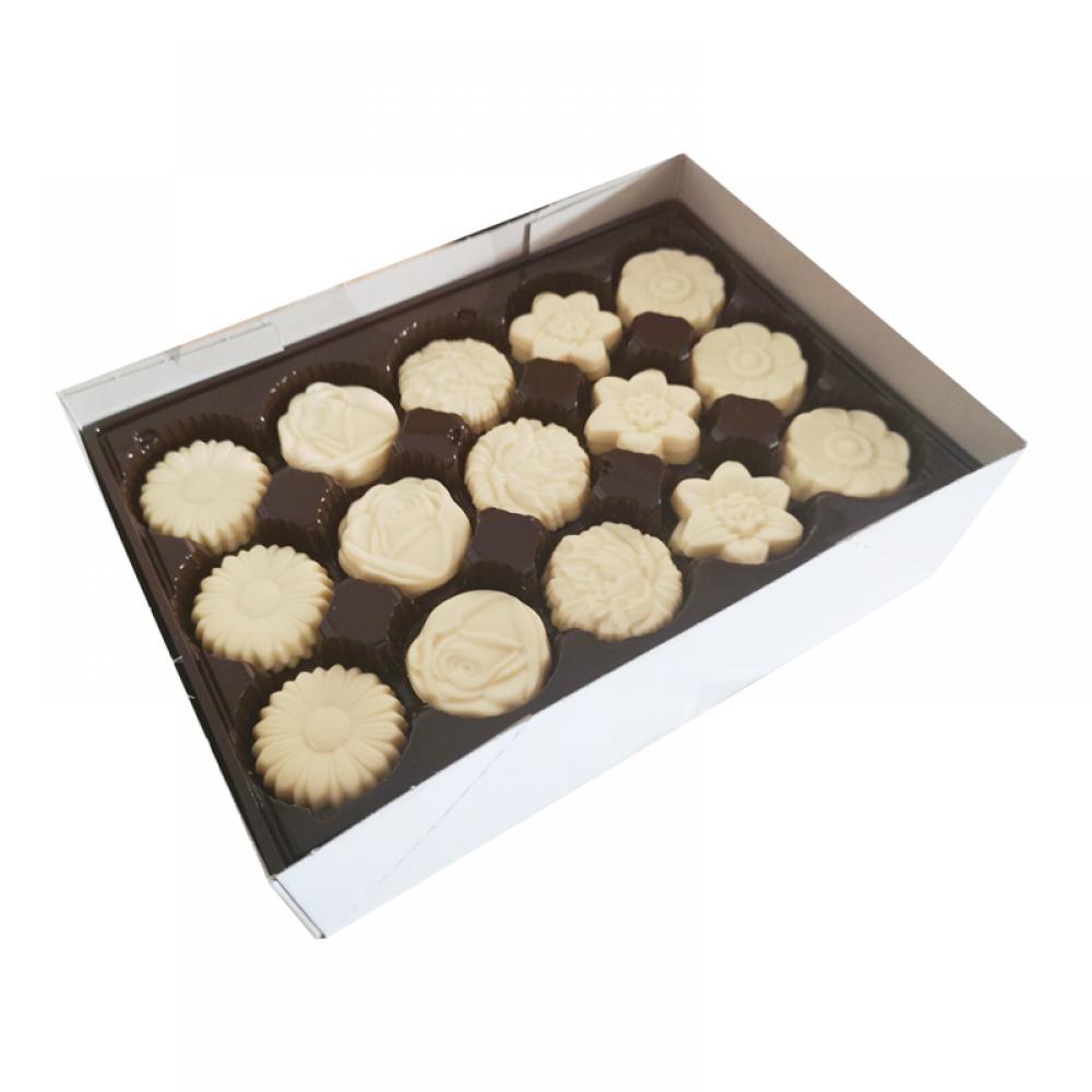 De Identified White Chocolate Flower Caraques 1kg