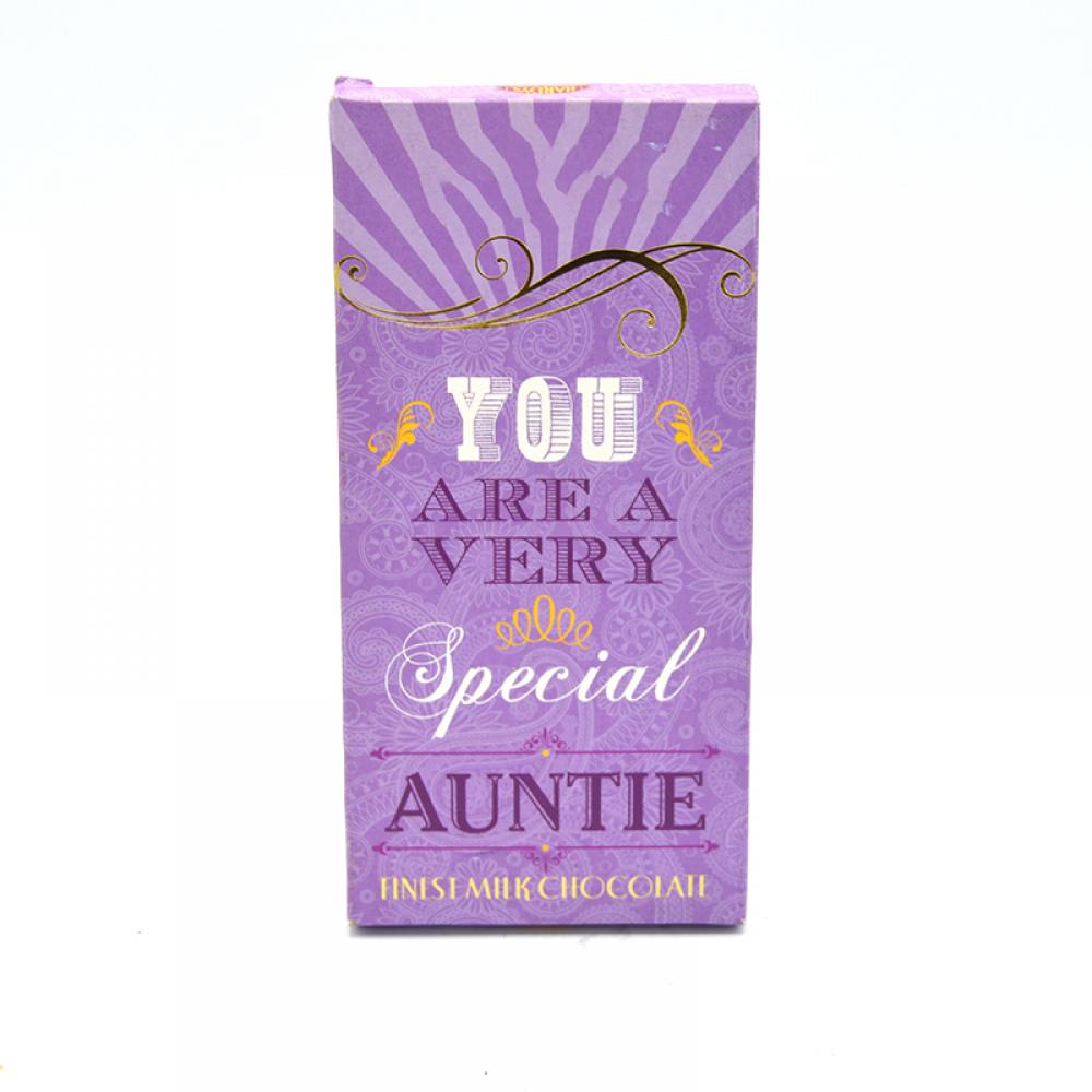 De Identified You Are a Very Special Auntie Milk Chocolate 80g