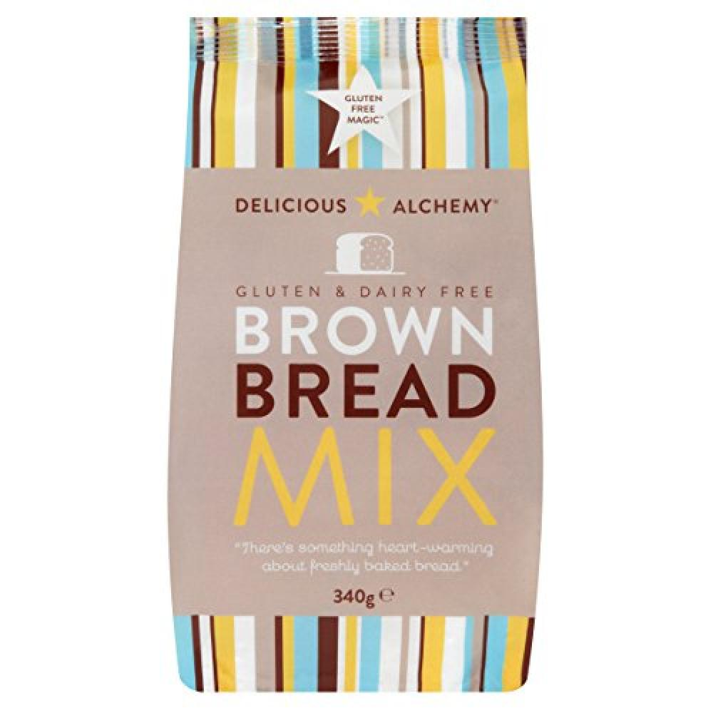 Delicious Alchemy Gluten and Dairy Free Brown Bread Mix 340g