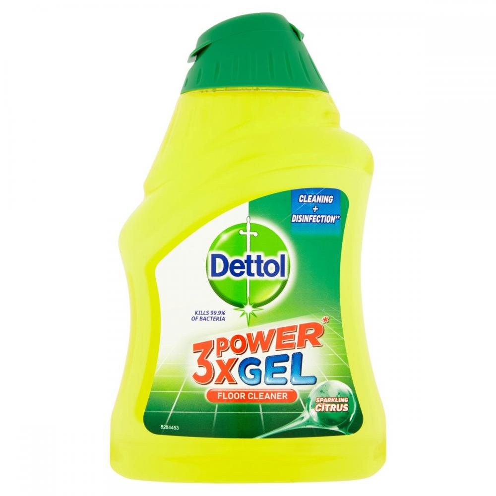 Dettol 3x Power Gel Floor Cleaner Sparkling Citrus 400ml