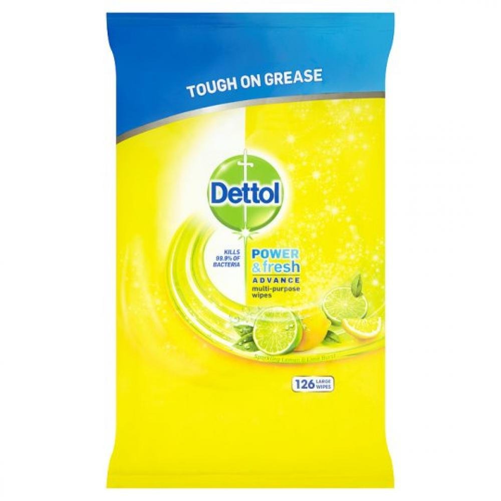 Dettol Power and Fresh Citrus Zest 120 Large Wipes