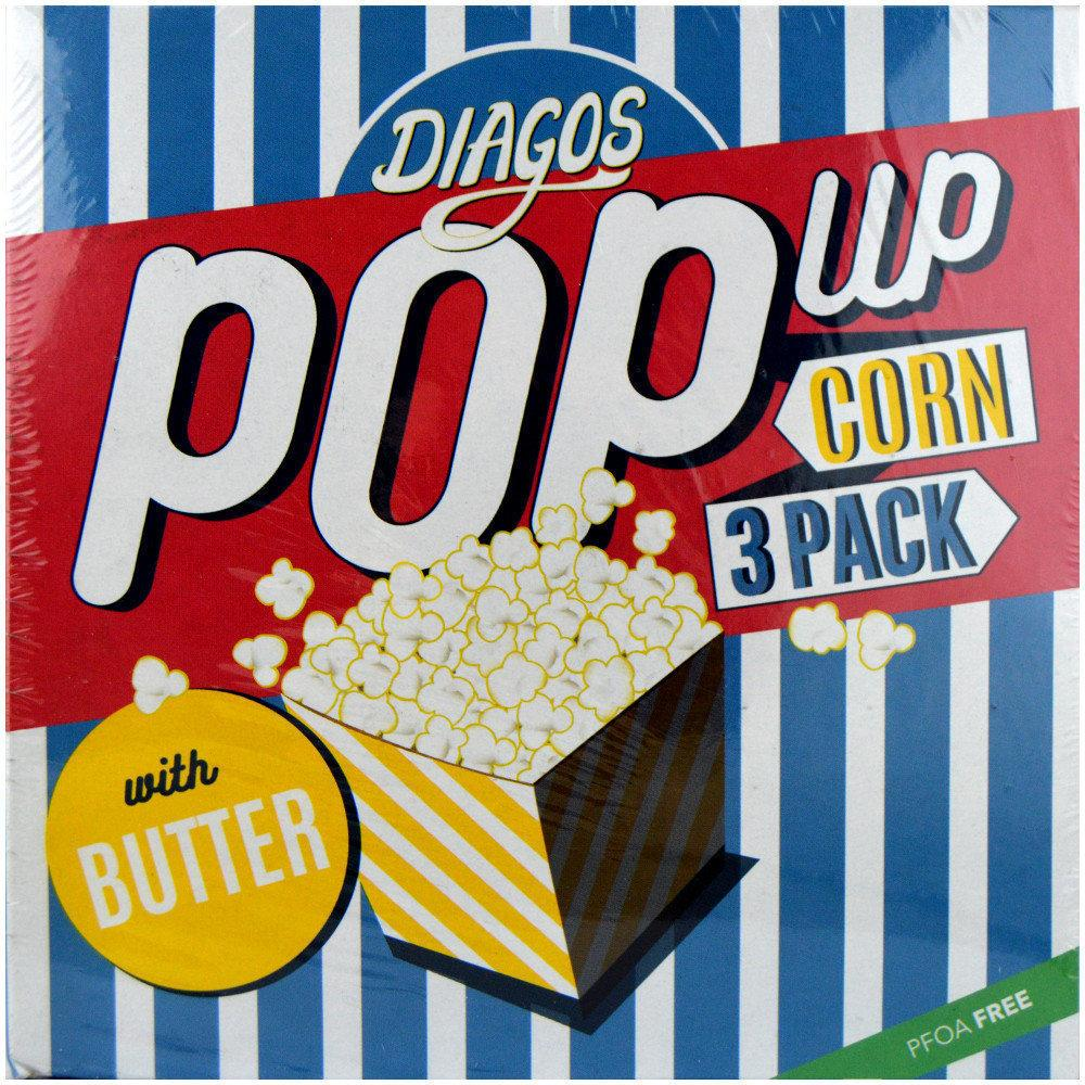 Diagos Pop Up Corn with Butter 100g x 3