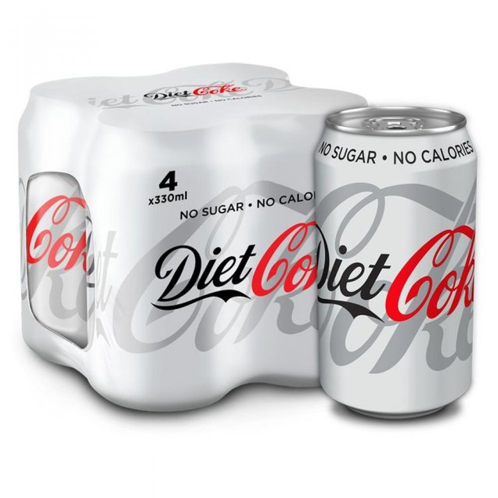 Diet Coke Can Pack 330ml x 4