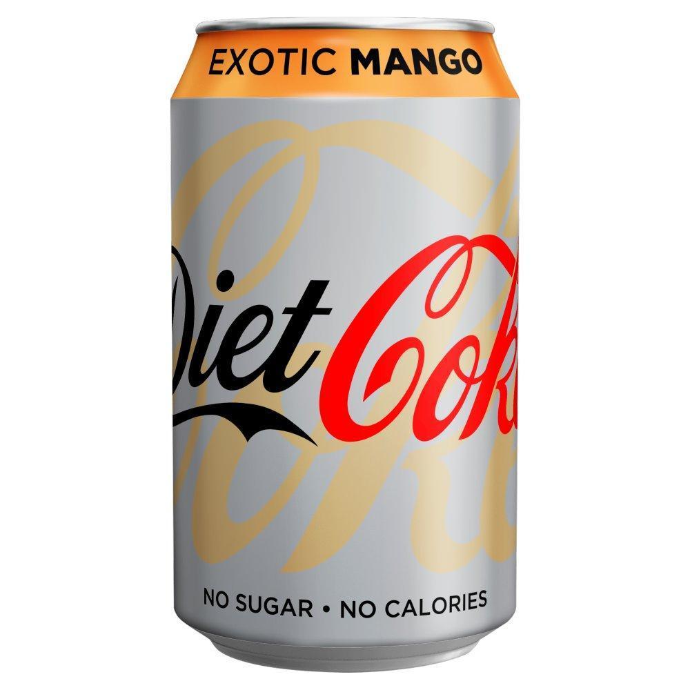 Diet Coke Exotic Mango 330ml