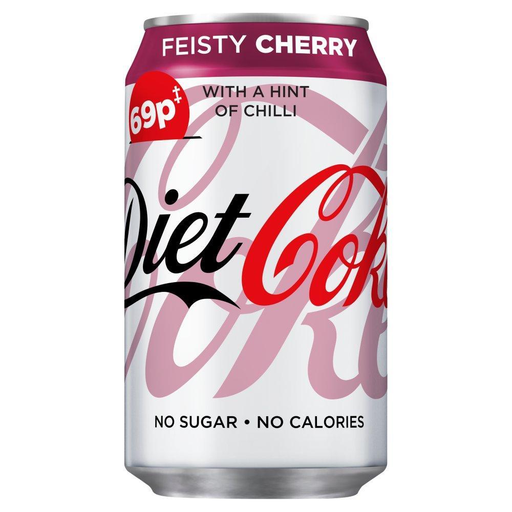 Diet Coke Feisty Cherry 330ml