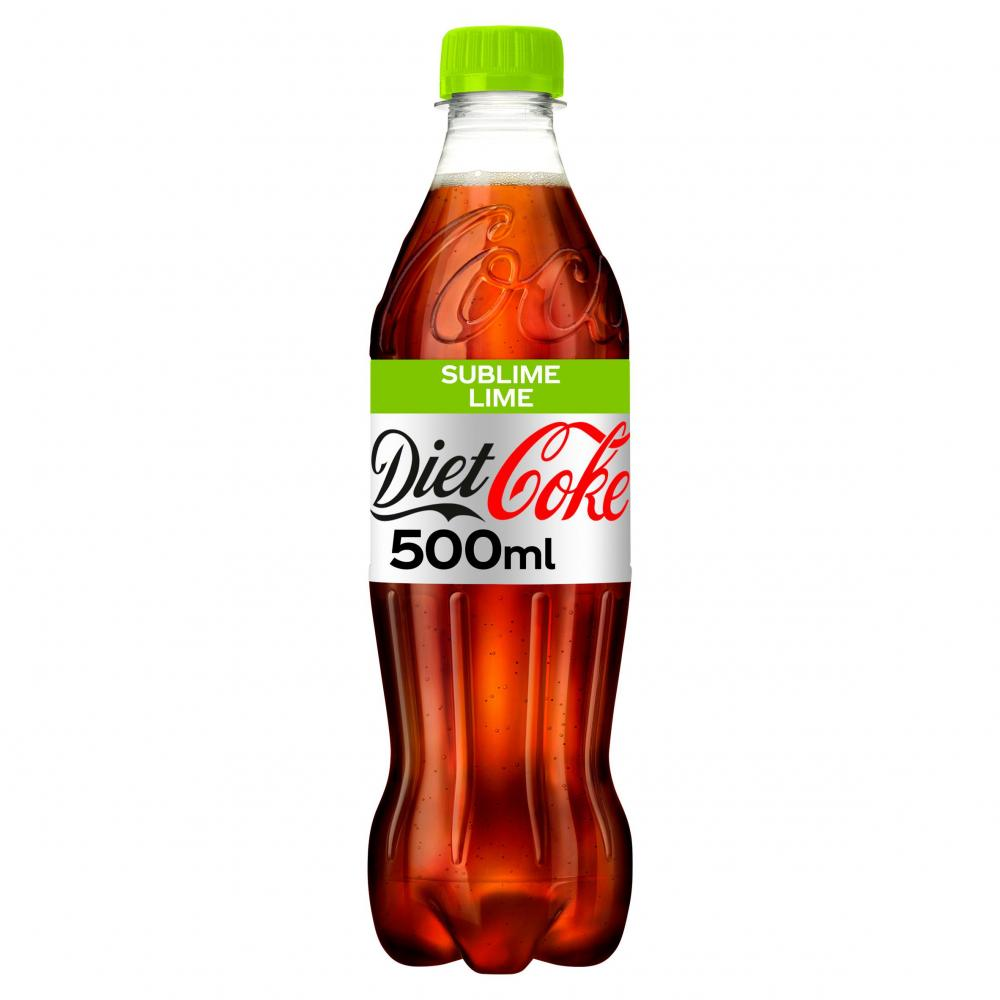 Diet Coke Sublime Lime 500ml