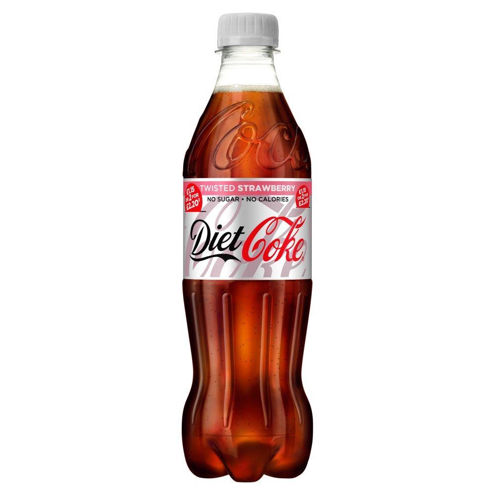 MEGA DEAL  Diet Coke Twisted Strawberry 500ml