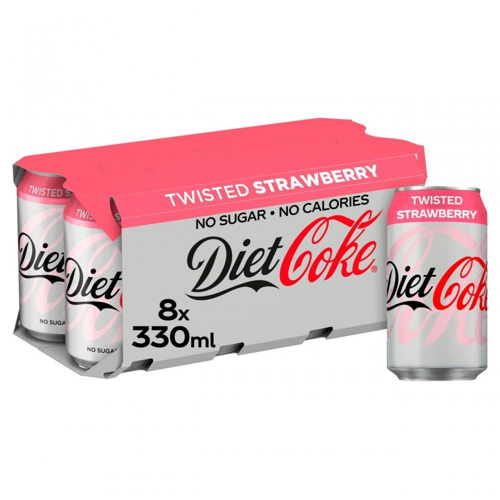 Diet Coke Twisted Strawberry 8 x 330ml
