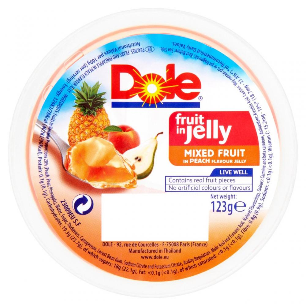 Dole Fruit In Jelly Mixed Fruit In Peach 123g
