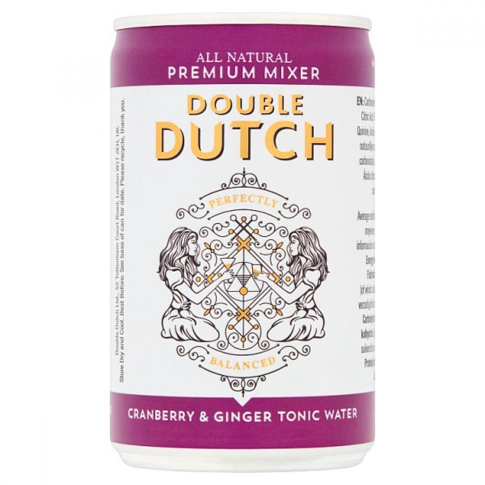 Double Dutch Cranberry and Ginger Tonic Water 150ml