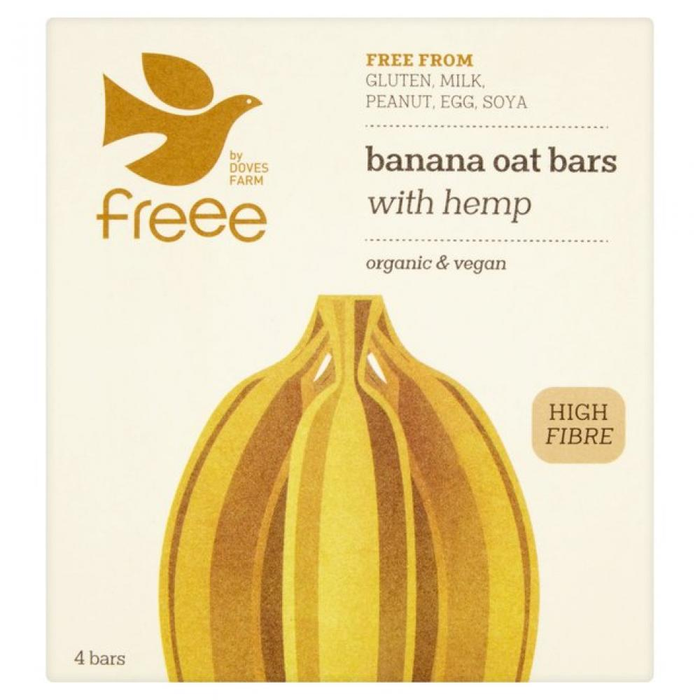 Doves Farm Organic Banana Oat Bars with Hemp (4 bars) 4 bars